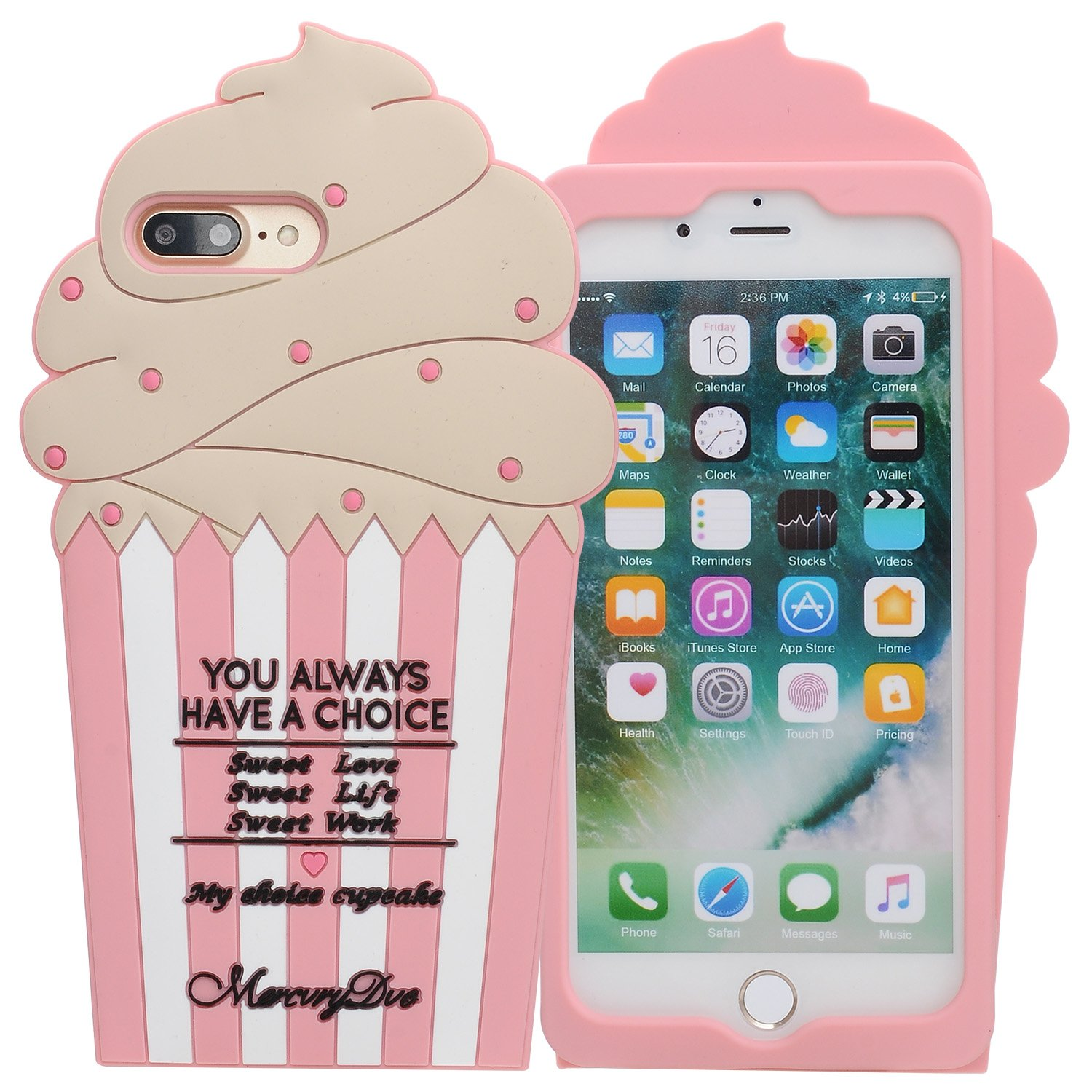 I Phone 7 Plus Case, I Phone 8 Plus Case, Phenix Color 3 D Cute Cartoon Soft Silicone Hello Kitty Gel Back Cover Case For Apple I Phone 7 Plus 2016 / I Phone 8 Plus 2017 Case Amp Prime (94) by Phenix Color