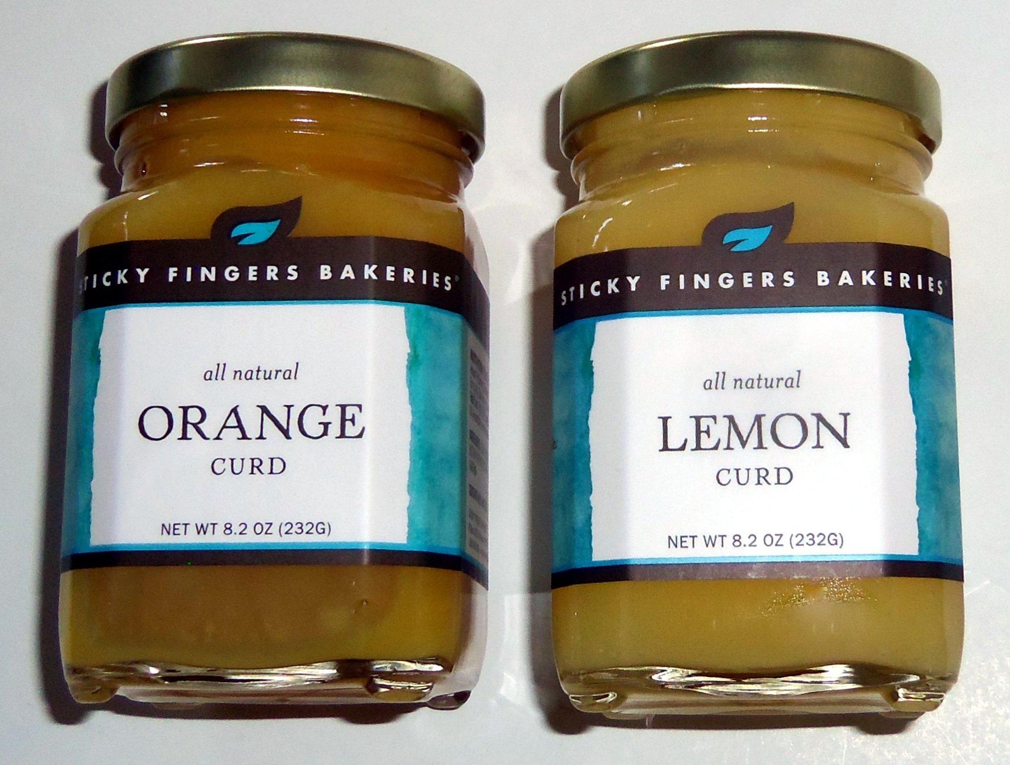 Sticky Fingers Bakeries Lemon & Orange Curd 8.2 Ounces 1 Jar Each