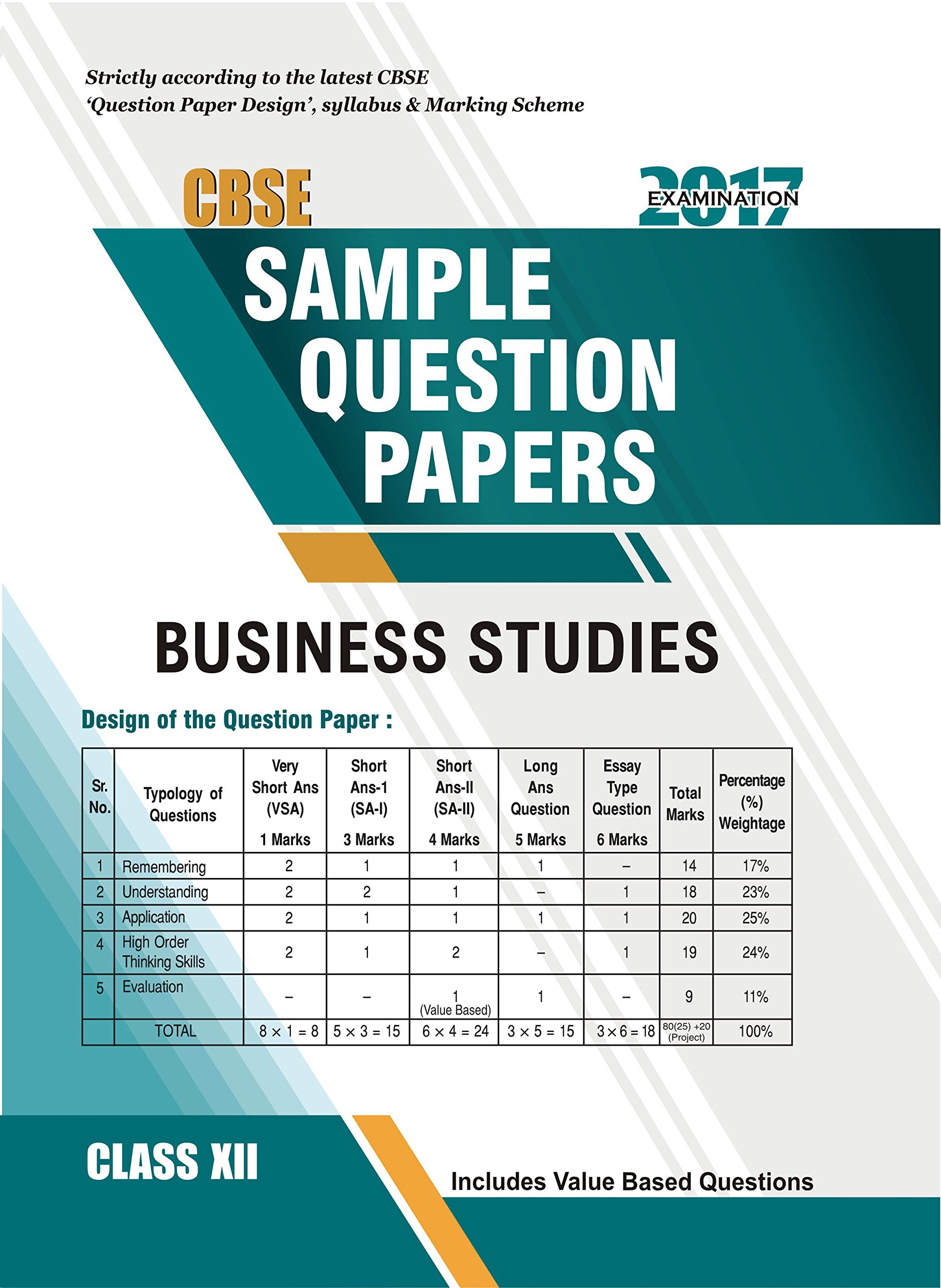 Amazon.in: Buy CBSE Sample Question Paper Business Studies Class 12 ...