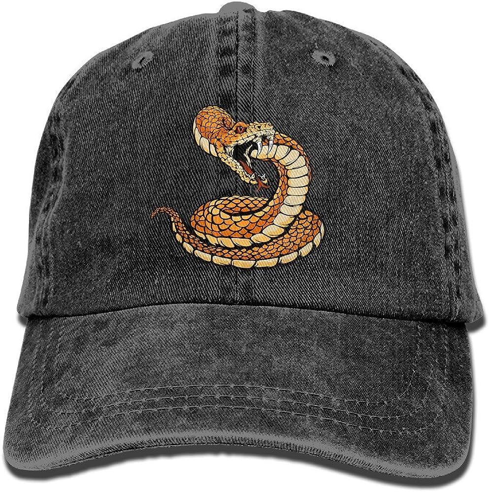 GJdd/_diy Rattlesnake Adult Fashion Cowboy Hat Black