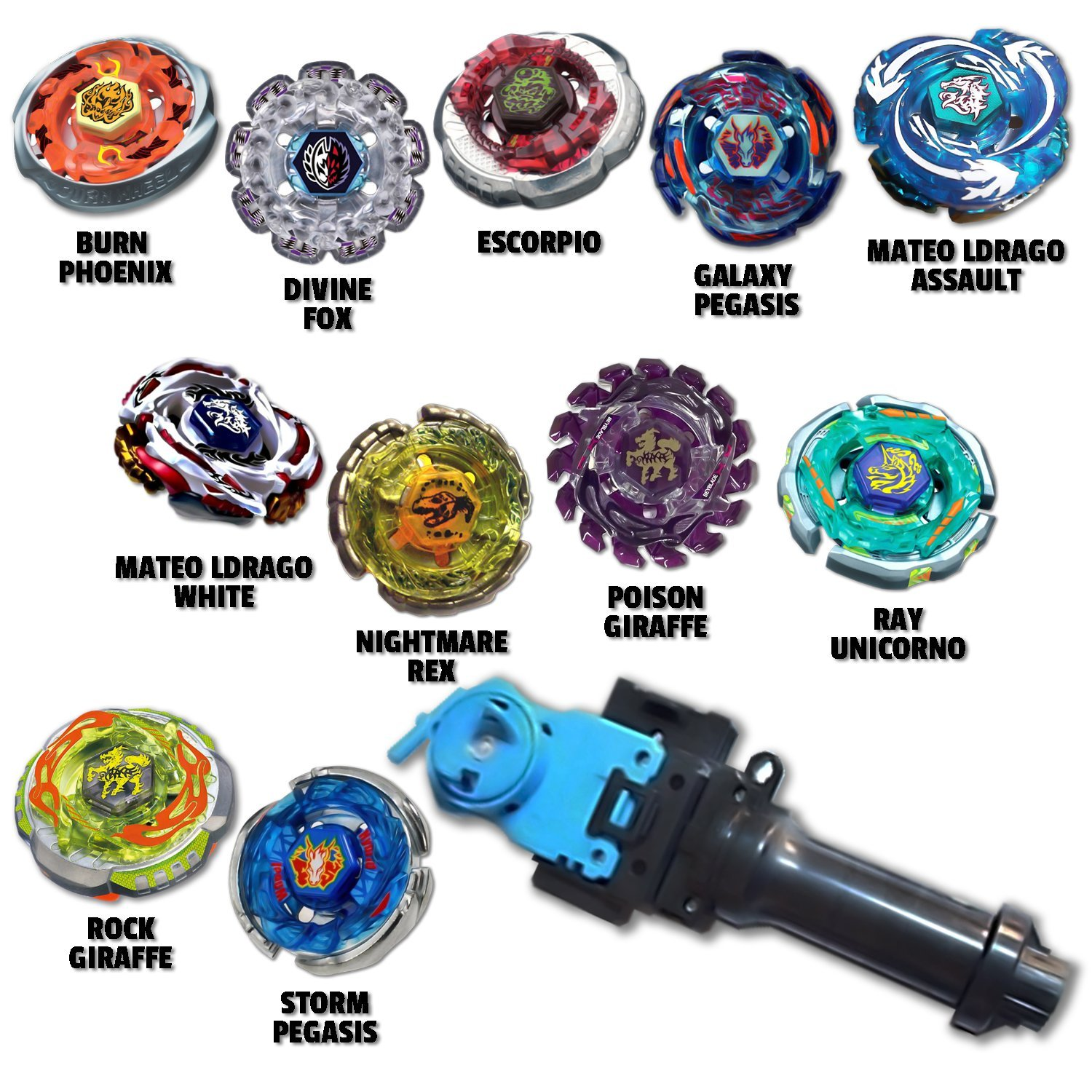 Beyblade Beast Pack Comes w/ 4 Random Beyblades Equipped w ...