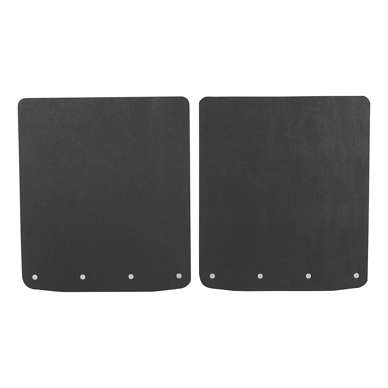 LUVERNE 252023 Universal 20 x 23-Inch Black 20 x 23 Textured Rubber Mud Guards with Stainless Steel Plates