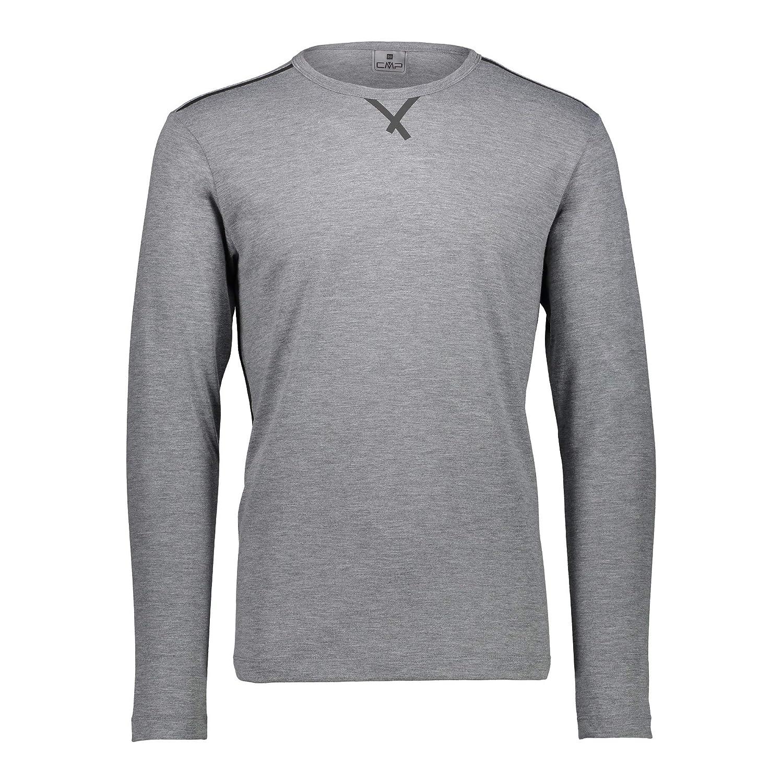 CMP FUNKTIONSPULLOVER Shirt Man T-Shirt GRAU ATMUNGSAKTIV MELIERT