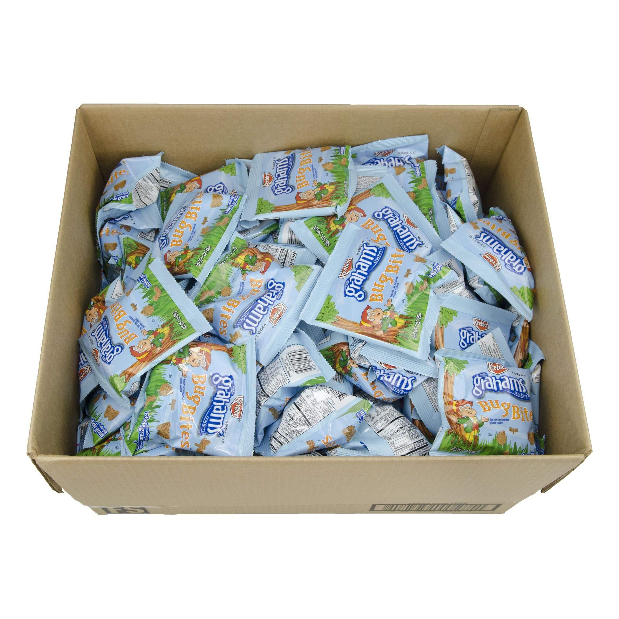 Kellogg's Keebler Grahams Crackers, Bug Bites Cinnamon, 1 Oz. Snack Packs (Box of 210)