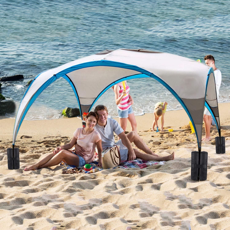 Tende Parasole 4 Sacchetti Pesi Sacchi per Pesi per Gambe di Gazebo Pop-up trampolini e Giocattoli da Giardino per Bambini KUYOU