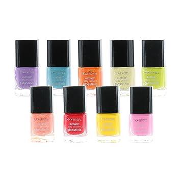 Amazon.com: CoverGirl Set of 9 Beautiful Nail Polish Bottles Outlast ...