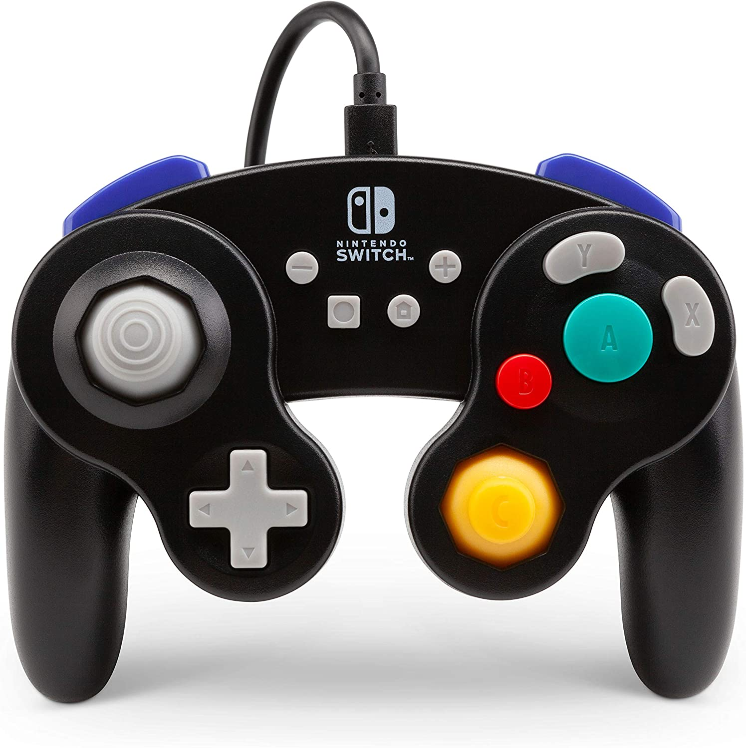 Mando Con Cable, Estilo Gamecube Negro (Nintendo Switch)