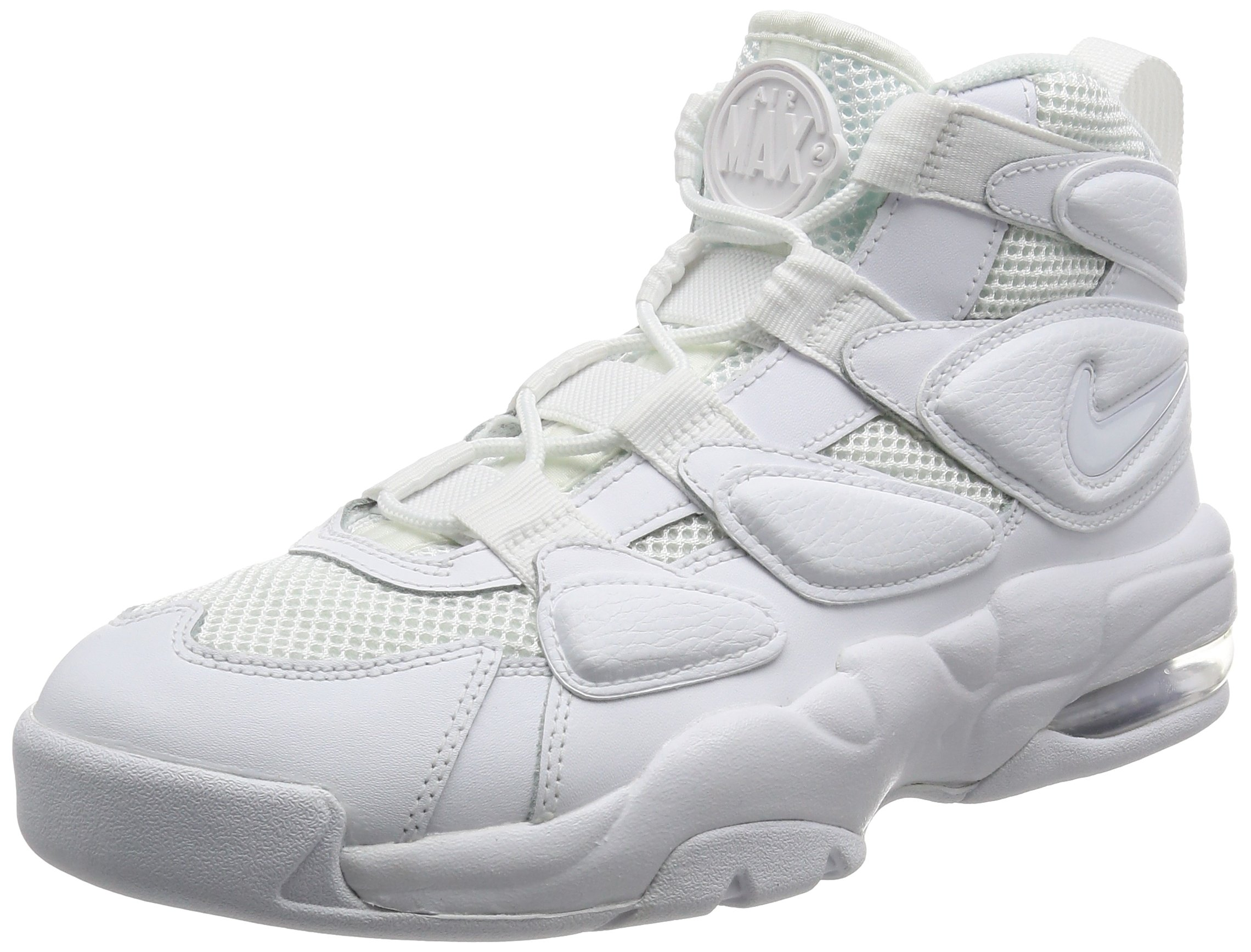 competitive price 0fd85 b3deb Galleon - Nike Mens Air Max2 Uptempo '94 Leather Basketball Shoes White 10  Medium (D)
