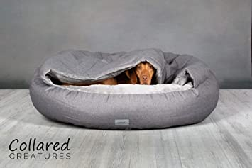 Collared Creatures Deluxe - Cama para Perro con Forma de Cueva, Color Gris: Amazon.es: Productos para mascotas