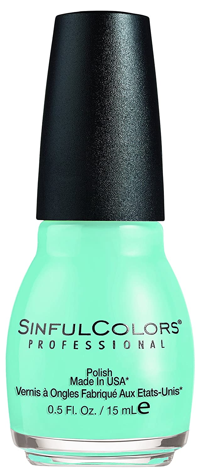 SinfulColors Professional Nail Polish Wonder Mint #1599, 0.5 Fl Oz