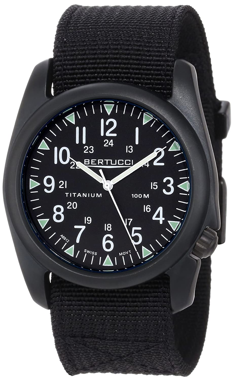 76d16430cf6 Amazon.com  Bertucci Men s 13415 A-4T Vintage 44 Yankee Durable Titanium  Field Watch  Watches