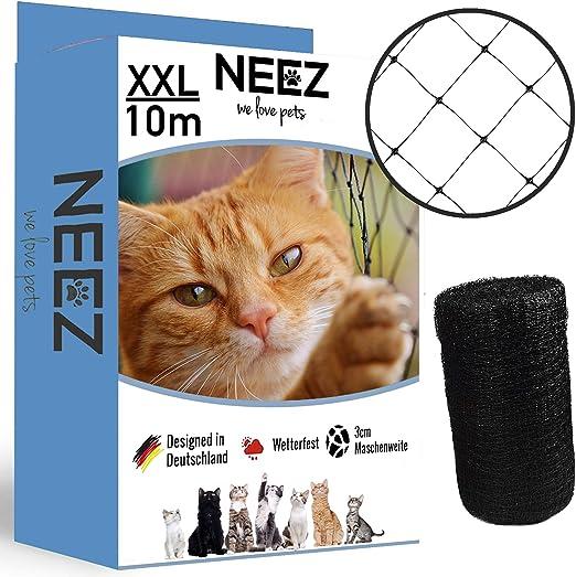 NEEZ XL red para gatos para balcones y ventanas I Red de seguridad ...