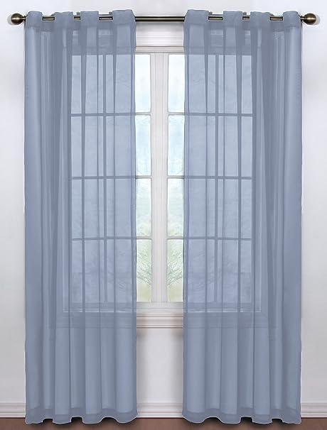 888de51c489 Arm and Hammer Curtain Fresh Odor Neutralizing Sheer Voile Grommet Curtain  Panel
