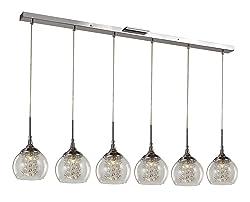 "Trans Globe Lighting MDN-1219 Indoor Amore 6"" Pendant, Polished Chrome"