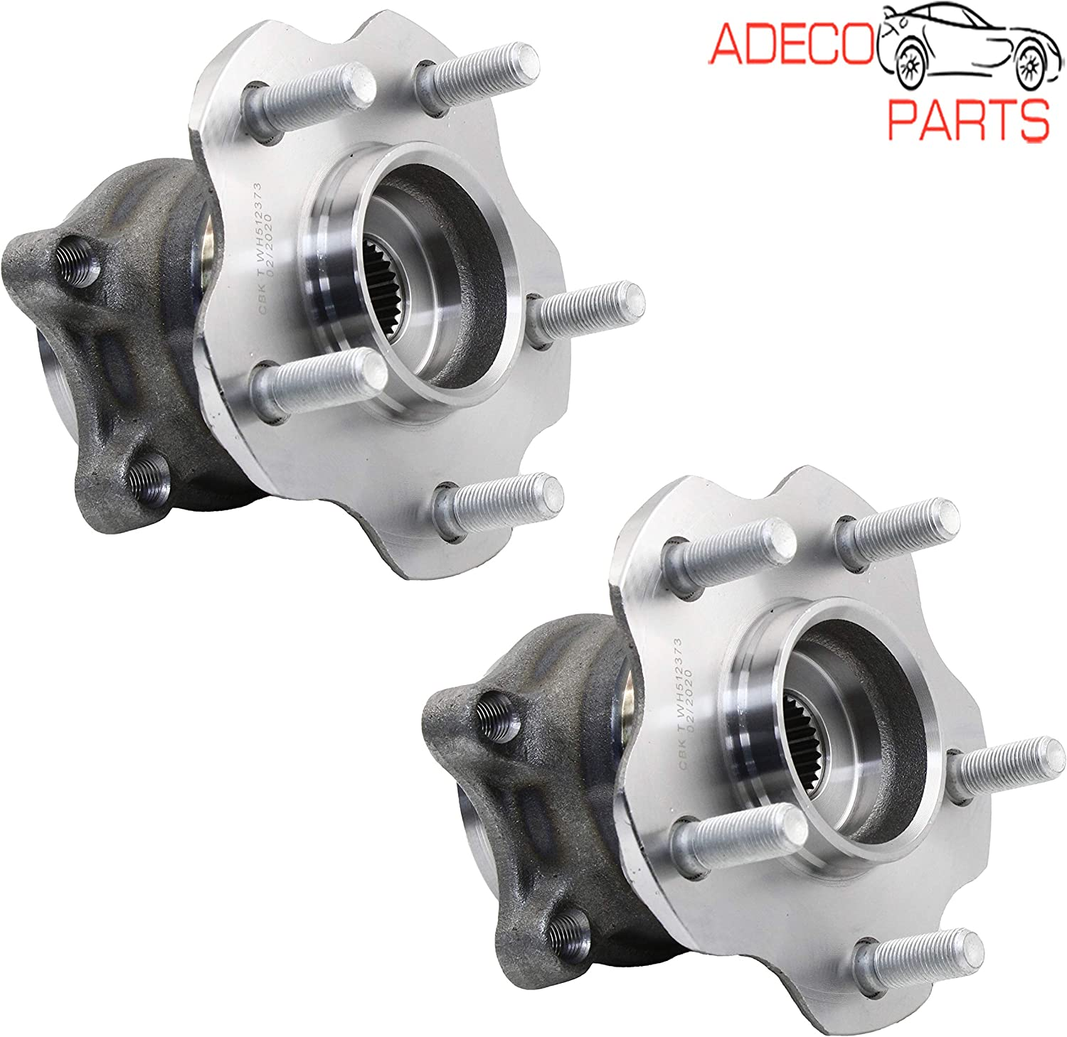 AWD AdecoAutoParts/© Two 512373 Rear Wheel bearing Hub Assembly for Nissan Rogue 2008 2009 2010 2011 2012 2013 Juke 2011 2012 2013 2014