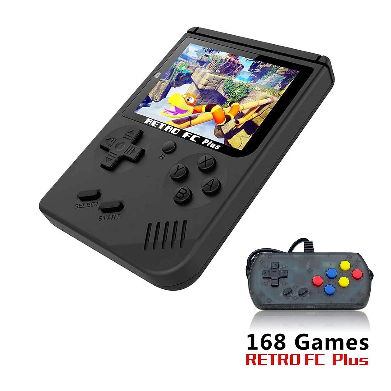 YLM Handspielkonsole, Retro FC Spielkonsole, Video spielkonsole mit Einem USB Joystick + 3 Zoll 360 Klassiker Spiele, Kinder YLMTech-Design