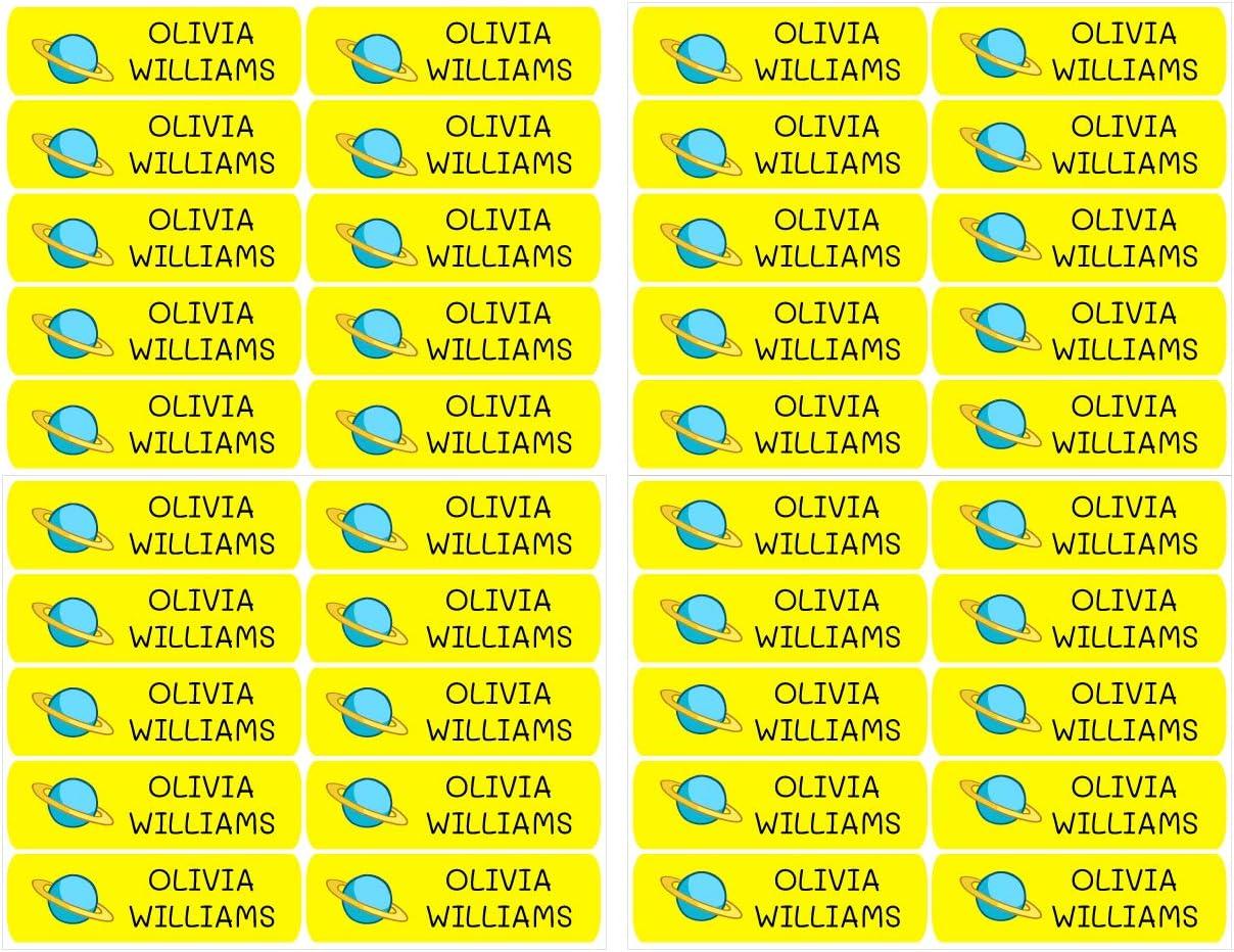 B/üchern zur Kennzeichnung von Objekten Color Rosa Lunchboxen 50 personalisierte Klebeetiketten etc 6 x 2 cm