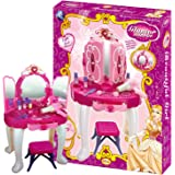 KIDS TOY GLAMOUR DRESSING TABLE LIGHT SOUND GIRLS VANITY ROLE PLAY FUN XMAS GIFT