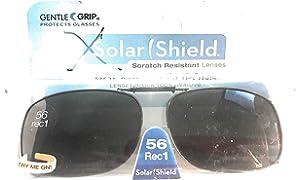 0d5e3fe7f1f 3 SOLAR SHIELD Clip-on Polarized Sunglasses Size 56 rec 1 Black Full Frame  NEW