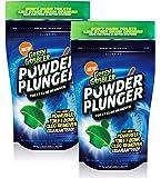 POWDER PLUNGER Toilet Bowl Clog Remover   Toilet Clog Eliminator   Toilet Plunger - 2 Pack