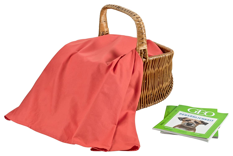 Bettlaken Elsterberg 150x250 ohne Gummizug 100/% Baumwolle 140g//m/²-aprikot Premium Betttuch