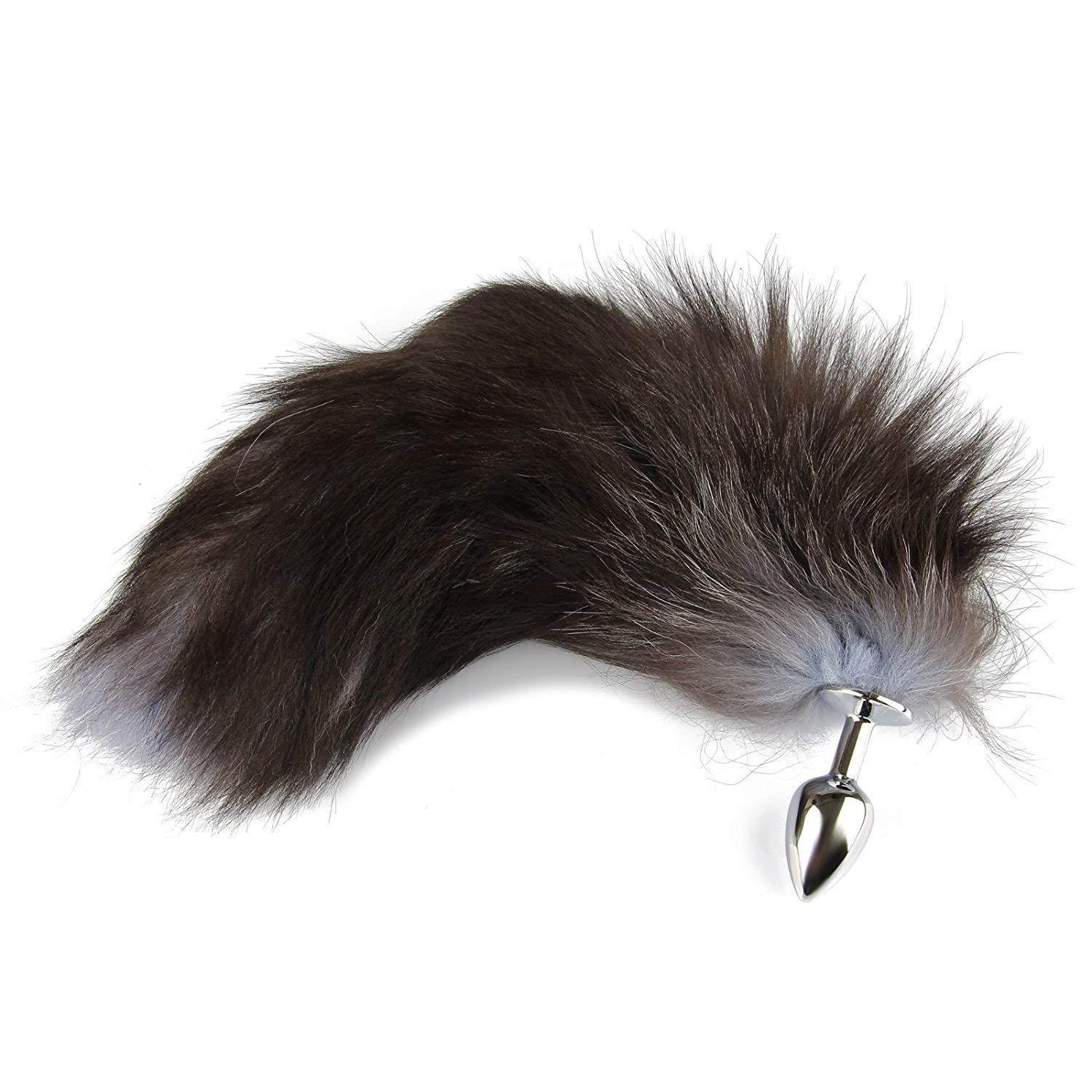 ee75713dc Amazon.com  Beauty7 Stainless Steel Soft Long Wild Fox Tail Butt Plug Anal  Anus Plugs Stimulator Cospaly Men Women Adult Sex Toy (Size L)  Health    Personal ...