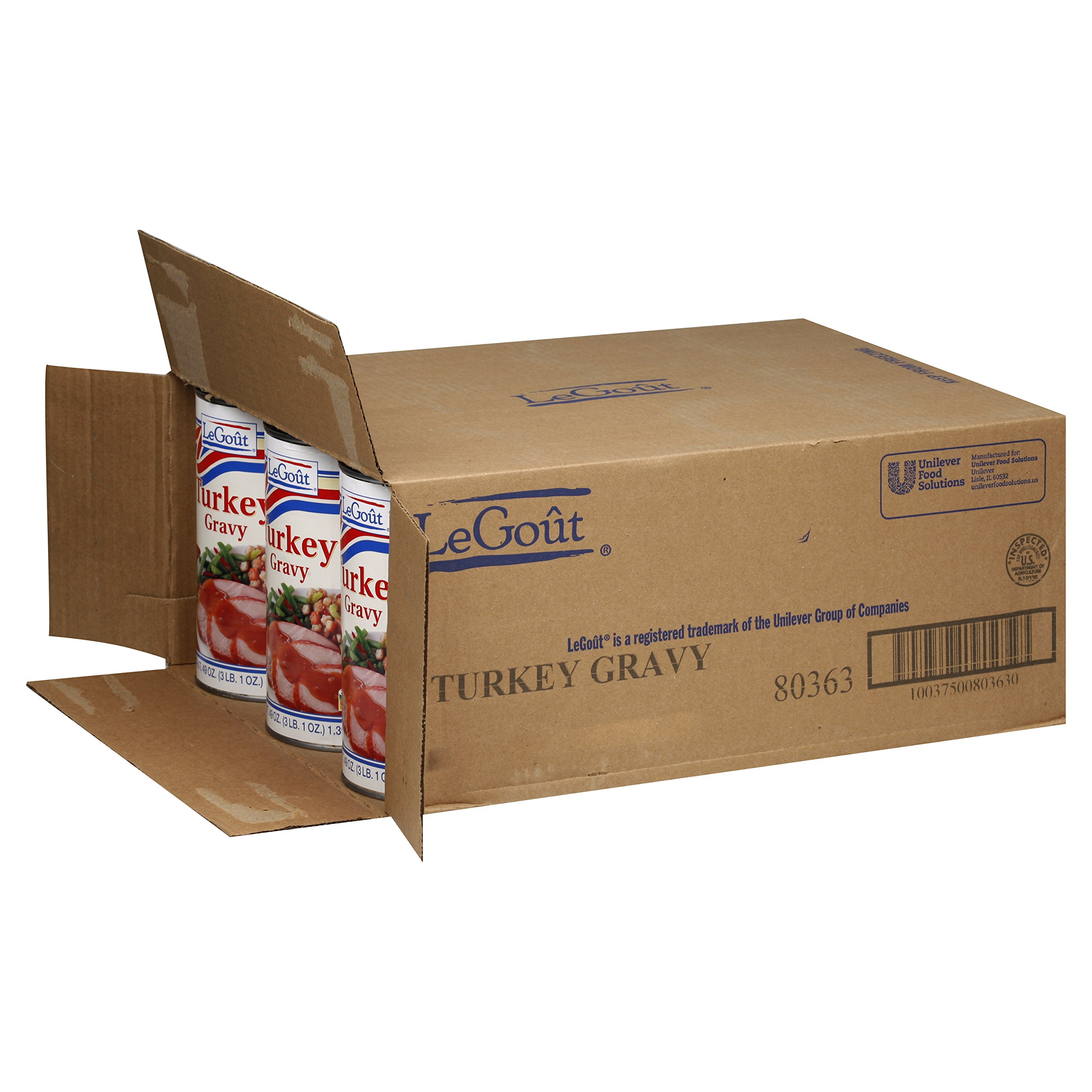 Legout, turkey Heat & Serve Gravy Mix 49 oz. (12 Count) by LeGout