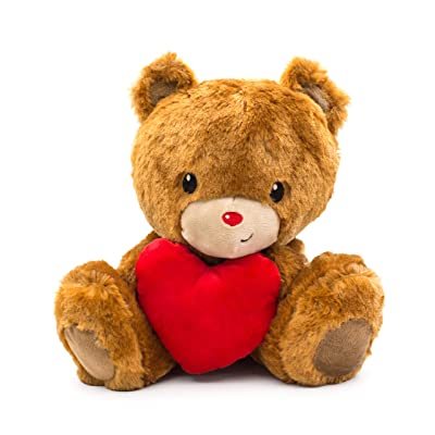 Scentco Sweetheart Teddy Bear - Scented Stuffed Animal, Valentine's, 10 inches - Cinnamon Bun: Toys & Games