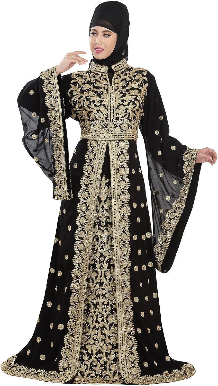 Amazon.com: Exclusive Dubai Party Wear Kaftan Moroccan Wedding Gown Takchita Dress For Women 5516: Clothing