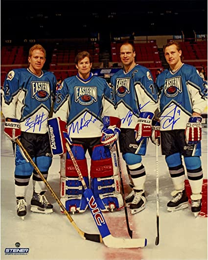 Adam Graves Brian Leetch Mike Richter   Mark Messier Signed 1994 All ... c2e71d959