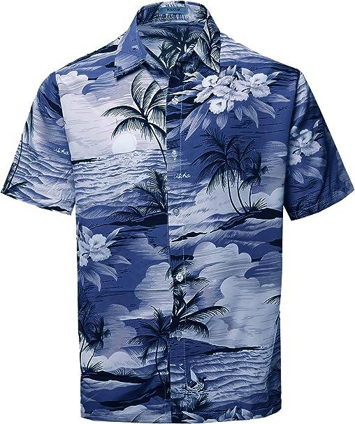 Funky Hawaiian Shirt Surf Mustard Different Sizes