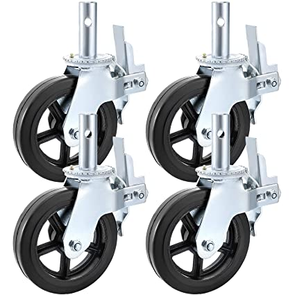 Amazon.com: BestEquip 4 Pack Scaffolding Caster Wheels 8 x 2 ...