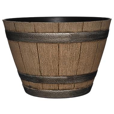 GARDENGOODZ Whiskey Barrel Planter, Distressed Oak, 15