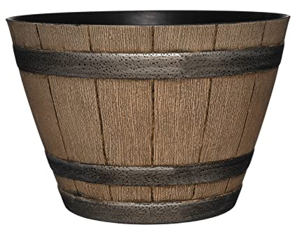 Classic Home And Garden 15 Whiskey Barrel 15 Distressed Oak