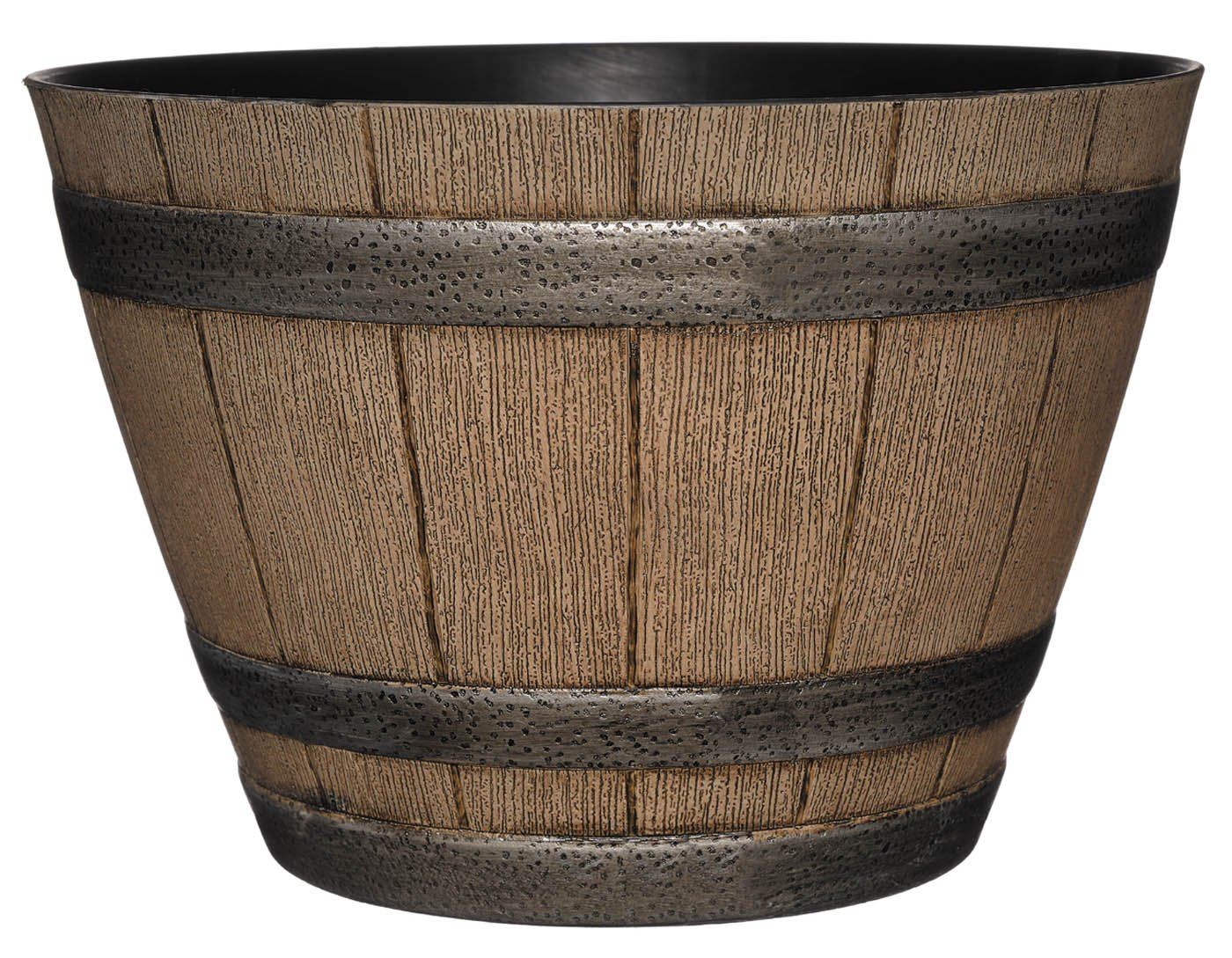 GARDENGOODZ Whiskey Barrel Planter, Distressed Oak, 15''