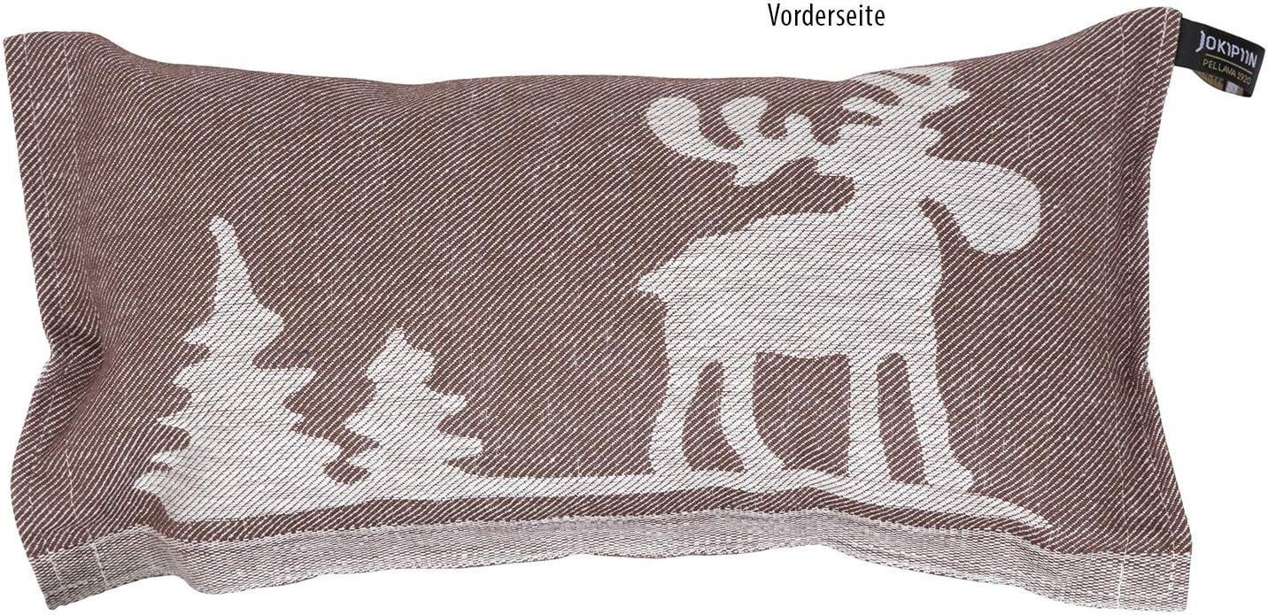 fabriqu/é en Finlande 1 coussin de sauna et de voyage en lin//coton 40 x 22 cm Jokipiin bleu fonc/é//blanc