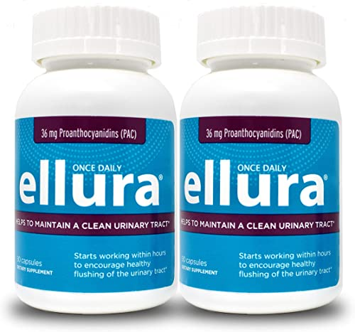 ellura 36 mg PAC 180 caps - Medical-Grade Cranberry Supplement for UTI Prevention - Highest Potency