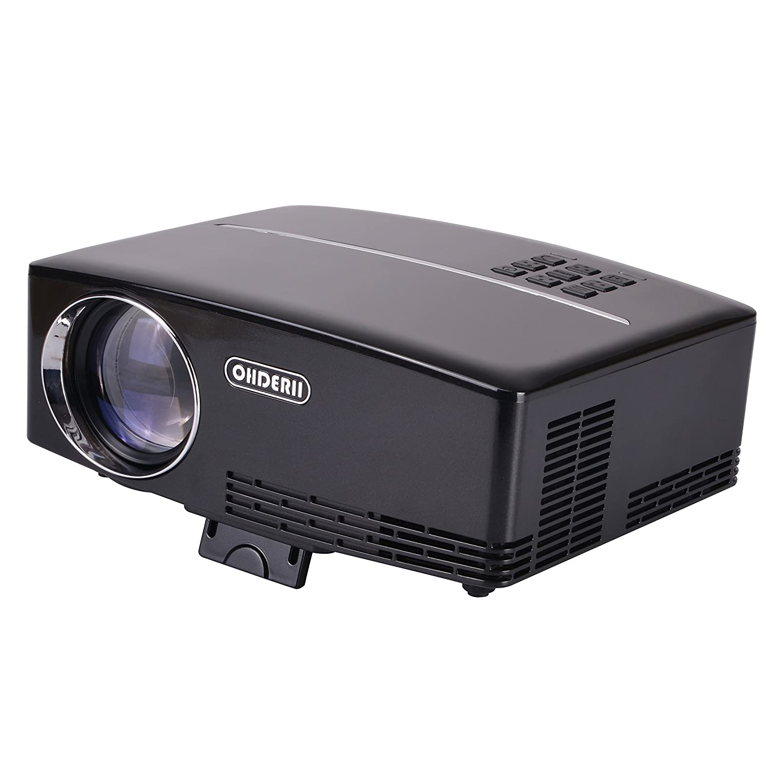 amazon com ohderii mini projector 1800 lumens projector for