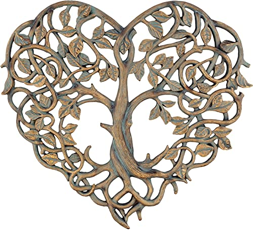Old River Outdoors Tree of Life Heart Wall Plaque 12 Decorative Art Sculpture – I Love You Decor