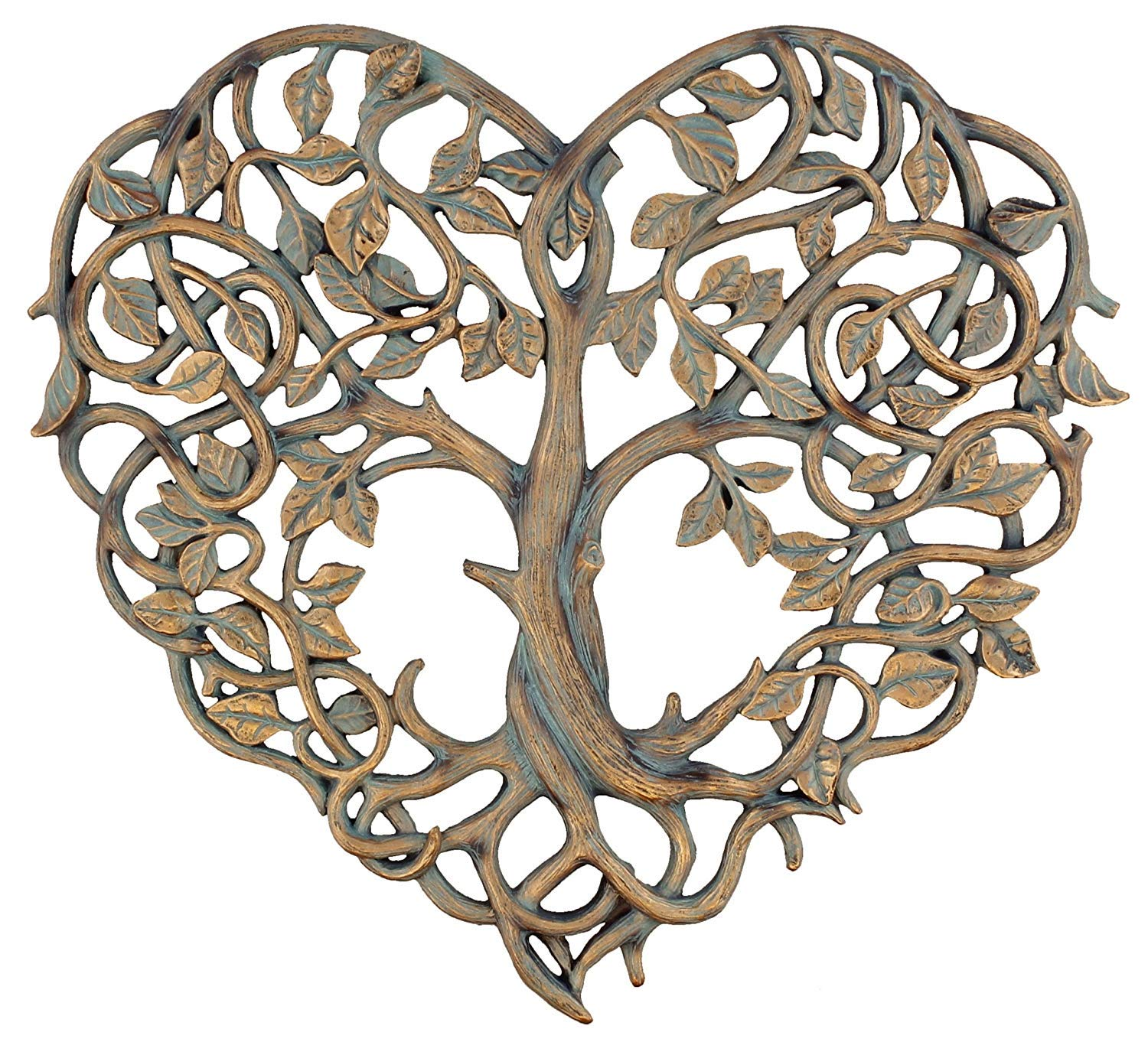"Old River Outdoors Tree of Life/Heart Wall Plaque 12"" Decorative Art Sculpture - I Love You Decor"