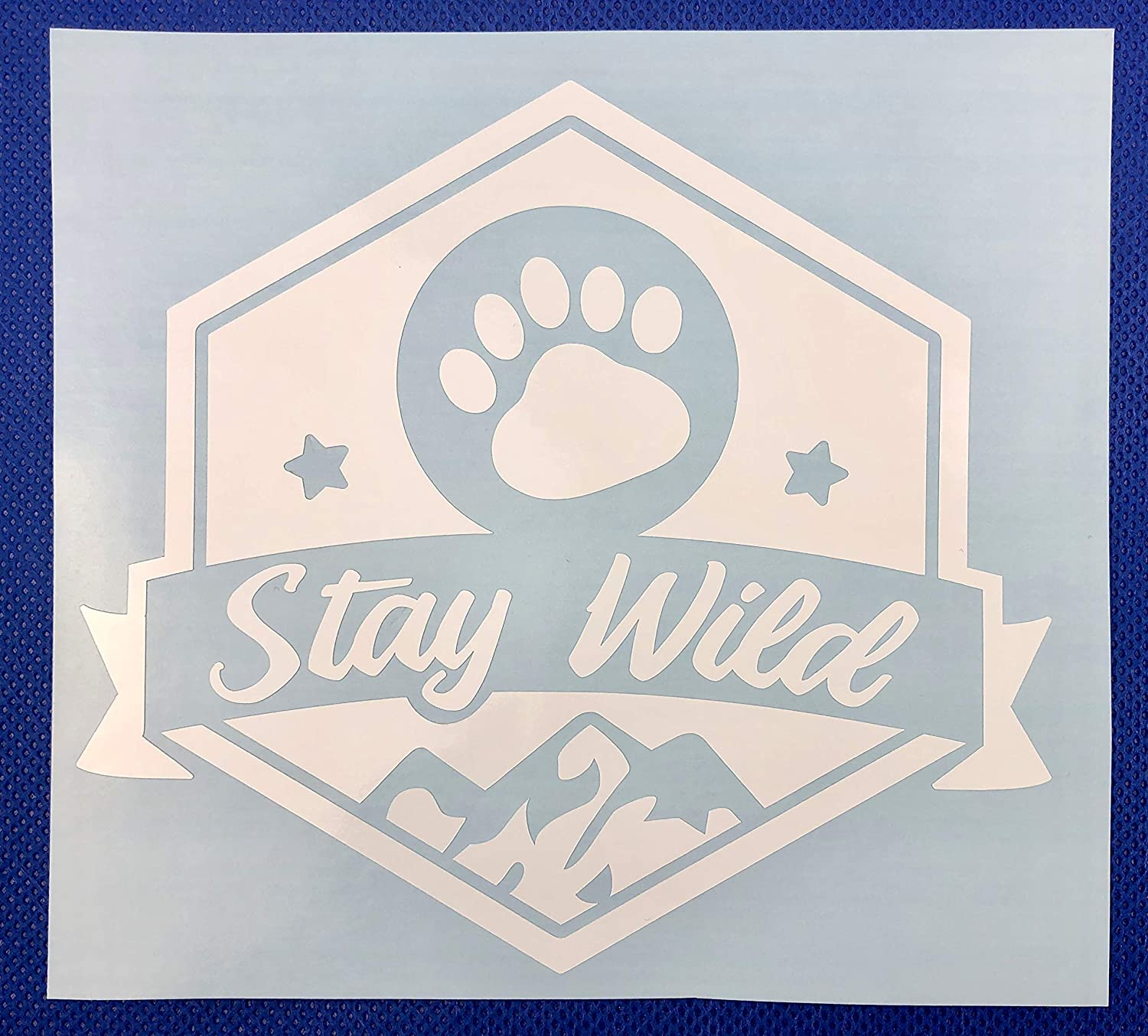 Stay Wild White Vinyl Car Decal New Gift