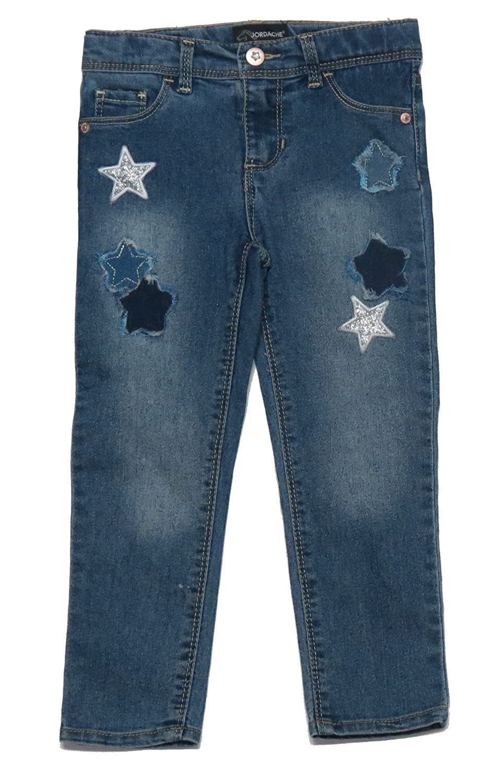817393d29d Amazon.com  Jordache Toddler Girl Star Patch Denim Skinny Size 4  Clothing