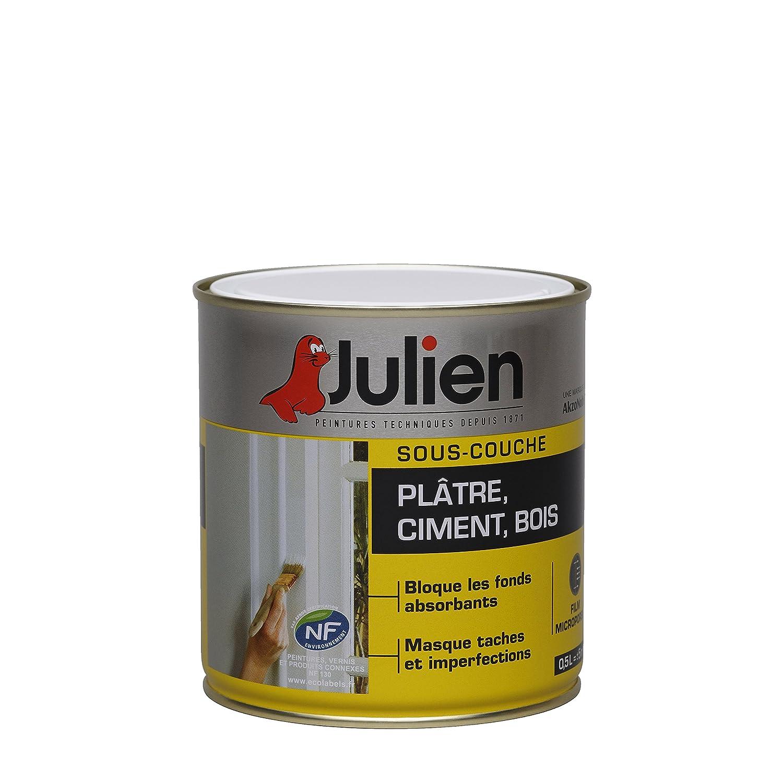 Sous-couche JULIEN pour plâ tre, ciment, bois - Blanc  Mat 0,5L AkzoNobel JU174001