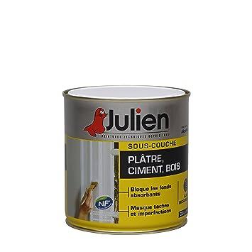 SousCouche Julien Pour Pltre Ciment Bois  Blanc Mat L
