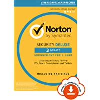Norton Security Deluxe 2019 | 3 Geräte | 1 Jahr | PC/Mac/iOS/Android | Download