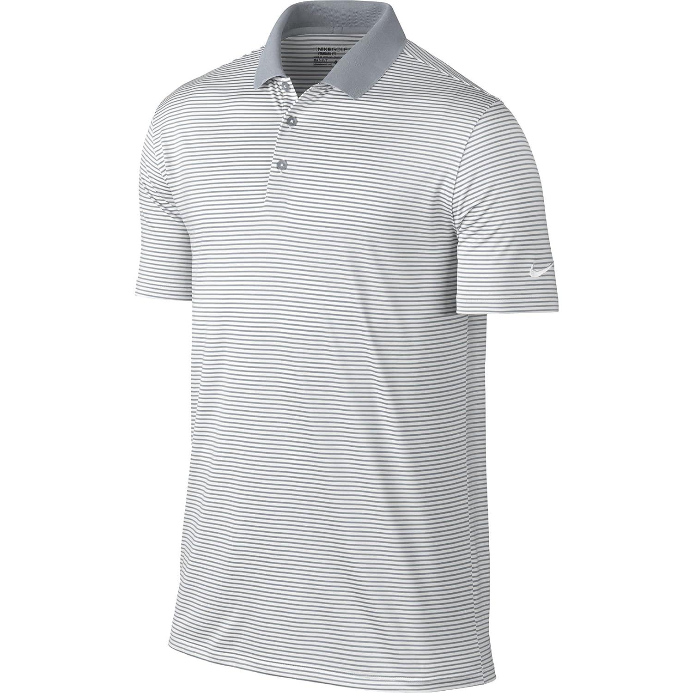 ナイキ ゴルフ DRI-FIT ヴィクトリー ミニ ストライプ 半袖ポロシャツ B005FTXZ1W Large|ホワイト ホワイト Large