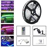 LEH LED Rope Lights RGB Light Strip Non-Waterproof 5050 SMD 16.4 Feet 150 Leds LED Strip Lights Full Kit