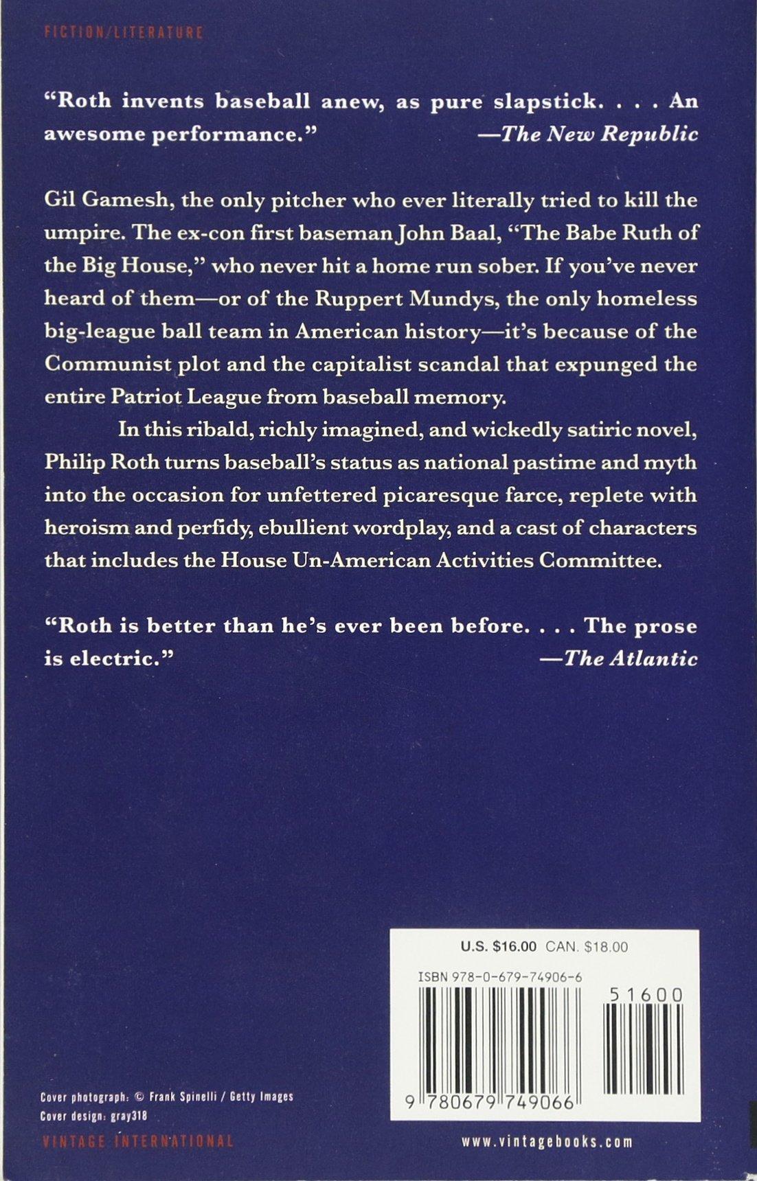 The Great American Novel: Philip Roth: 9780679749066: Amazon: Books