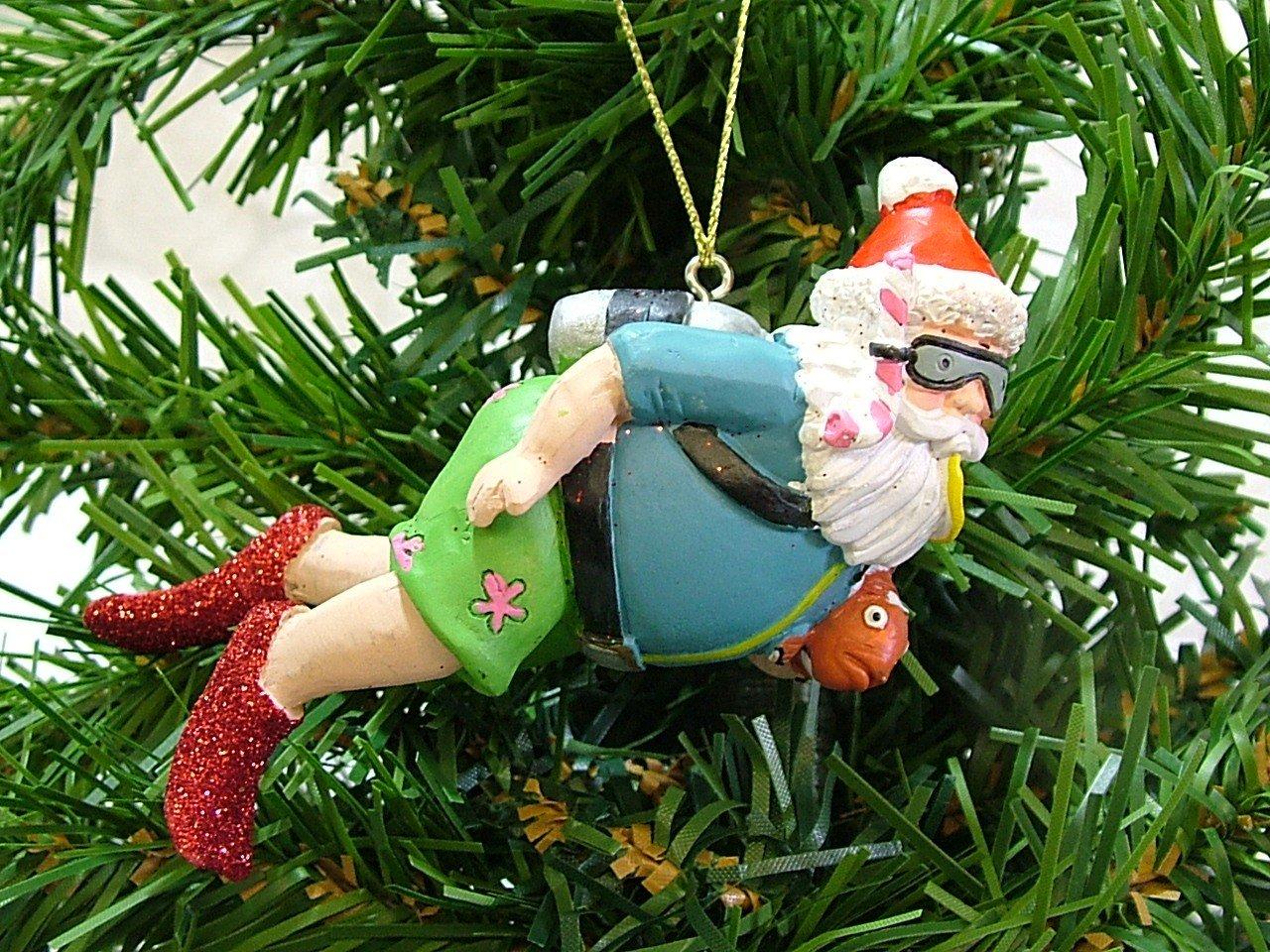 Amazon.com: Scuba Diving Snorkle Swimming Santa Claus Christmas ...
