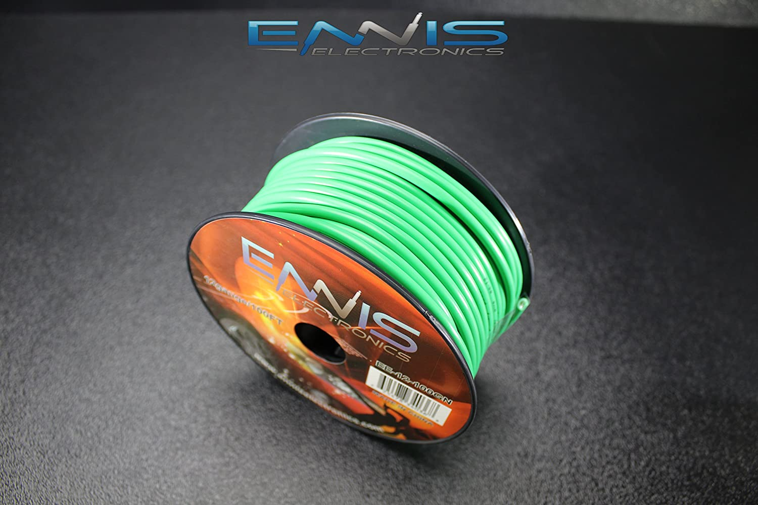 PICK 7 ROLLS 12 GAUGE WIRE ENNIS ELECTRONICS PICK 7 COLORS 100 FT SPOOLS PRIMARY REMOTE HOOK UP AWG COPPER CLAD